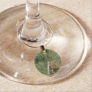 Torrey Pine Closeup California Tree Wine Charm