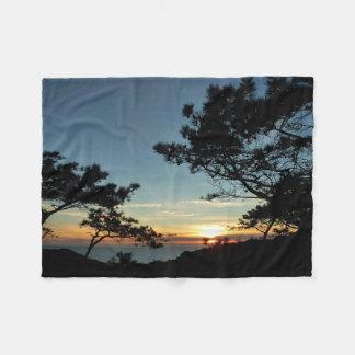 Torrey Pine Sunset III California Landscape Fleece Blanket