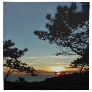 Torrey Pine Sunset III California Landscape Napkin