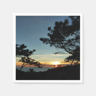 Torrey Pine Sunset III California Landscape Paper Napkin