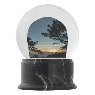 Torrey Pine Sunset III California Landscape Snow Globe