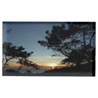 Torrey Pine Sunset III California Landscape Table Card Holder