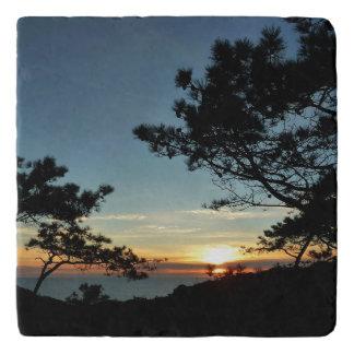 Torrey Pine Sunset III California Landscape Trivet