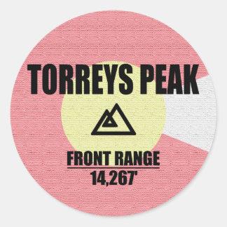 Torreys Peak Classic Round Sticker