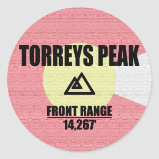 Torreys Peak Round Sticker