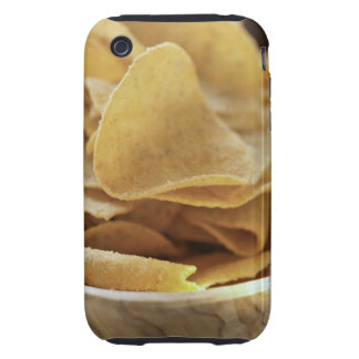 Tortilla chips in wooden bowl tough iPhone 3 case
