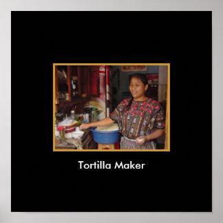 Tortilla Maker in Guatemala Poster