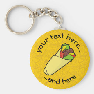 Tortilla Sandwich Wrap Key Ring