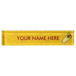 Tortilla Sandwich Wrap Name Plate