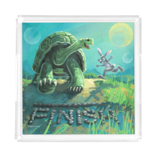 Tortoise and the Hare Art Acrylic Tray