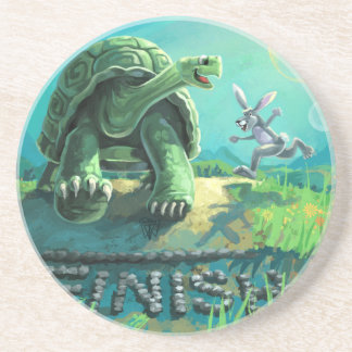Tortoise and the Hare Art Coaster