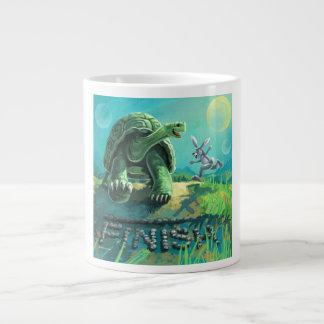 Tortoise and the Hare Art Large Coffee Mug