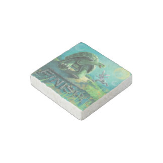 Tortoise and the Hare Art Stone Magnet