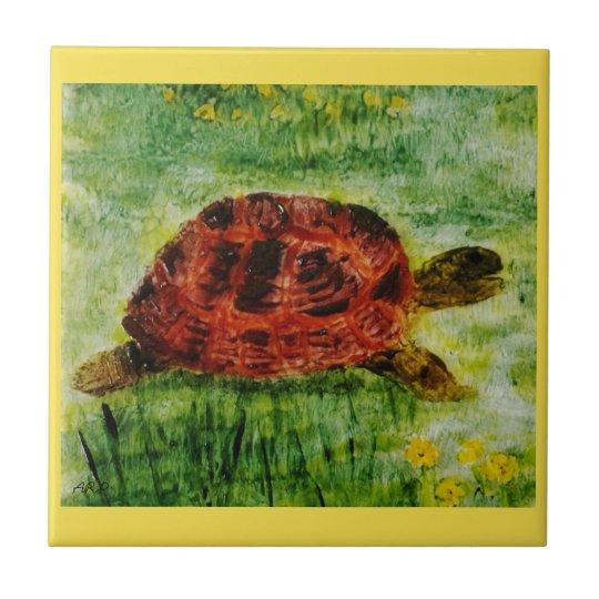 Tortoise Animal Art Ceramic Tile