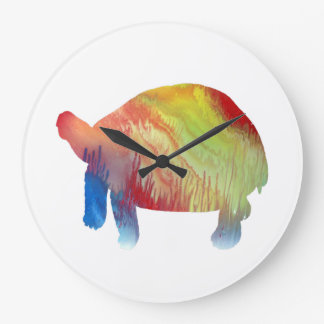 Tortoise Art Large Clock