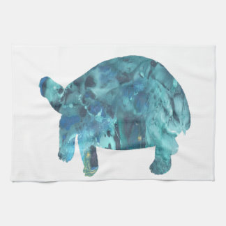 Tortoise Art Tea Towel