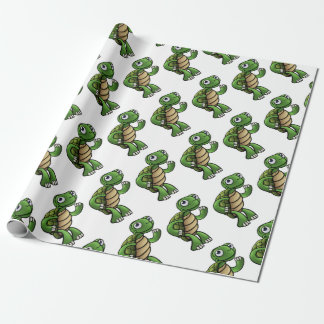 Tortoise Cartoon Character Wrapping Paper
