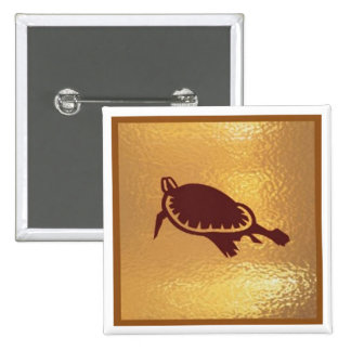 Tortoise Deep Water Swim - Medal Icon Gold Base Pin