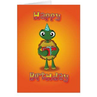tortoise - present - happy birthday card