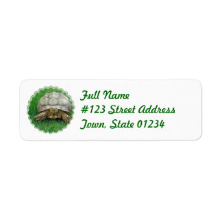 Tortoise Return Address Label