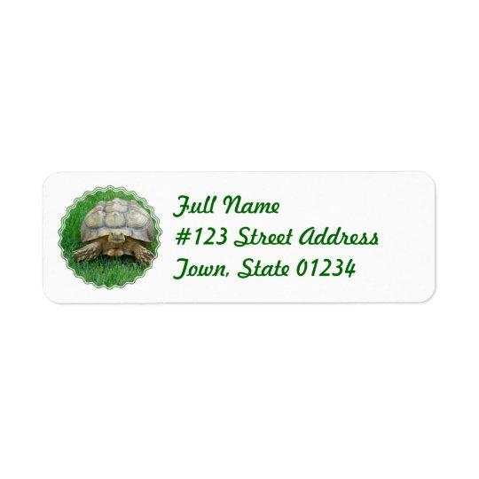 Tortoise Return Address Label