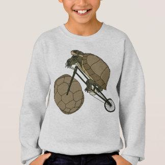 Tortoise Riding Bike W/ Tortoise Shell Wheels Sweatshirt