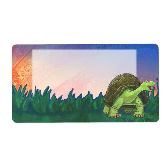 Tortoise Stationery Shipping Label