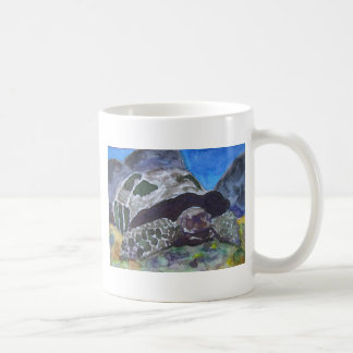 Tortoise turtle aquatic nature via watercolor aceo mugs
