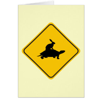 Tortoiseback Hare Crossing Card