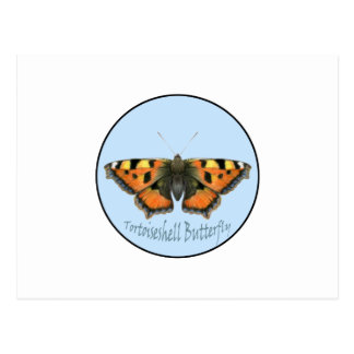 Tortoiseshell Butterfly Watercolor Painting Postcard