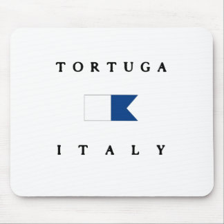 Tortuga Italy Alpha Dive Flag Mouse Pad