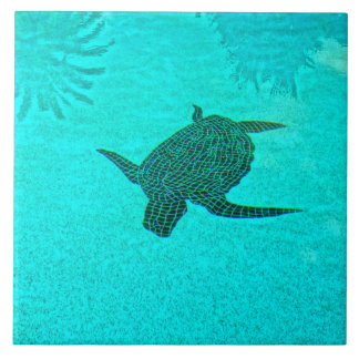 Tortuga Turtle Mosaic on Sanibel Island Florida Ceramic Tile