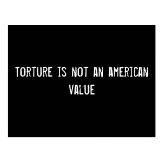 Torture is not an american value postcard