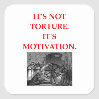 TORTURE SQUARE STICKER