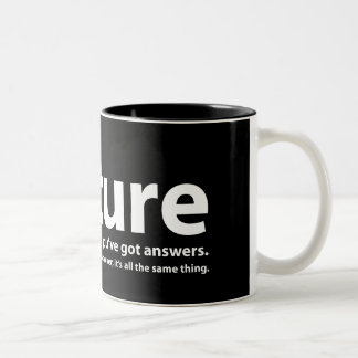Torture - we've got questions, you've got answers Two-Tone coffee mug