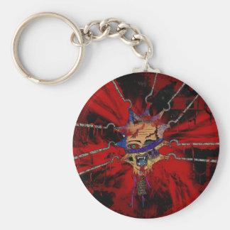 tortured head basic round button key ring