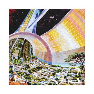Torus Space Habitat Artist Concept Gallery Wrap Canvas