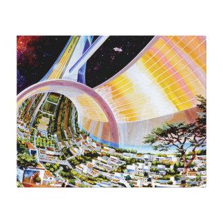 Torus Space Habitat Artist Concept Stretched Canvas Prints