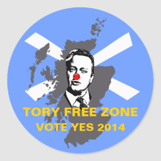 Tory Free Zone Scottish Independence Sticker