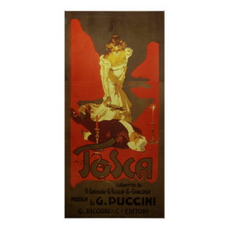 Tosca Opera Poster