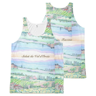Toscana - All-Over Printed Unisex Tank