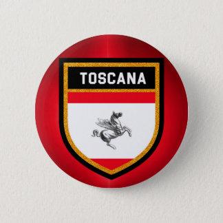 Toscana Flag 6 Cm Round Badge