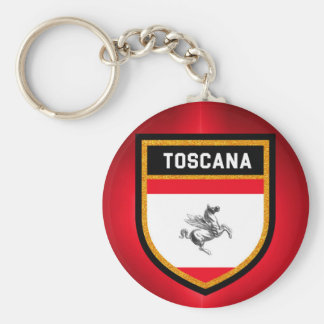 Toscana Flag Basic Round Button Key Ring