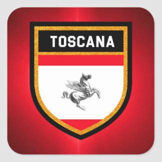 Toscana Flag Square Sticker