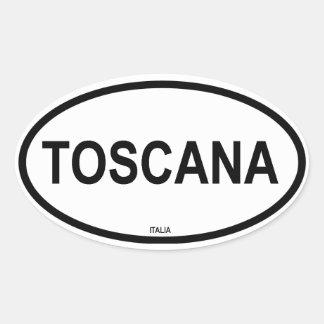 TOSCANA OVAL STICKER