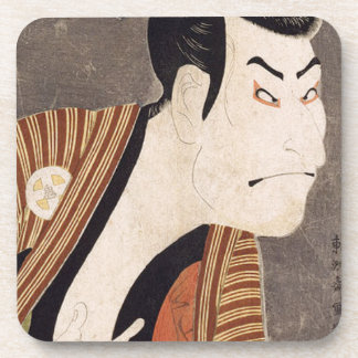 Toshusai_Sharaku Beverage Coaster