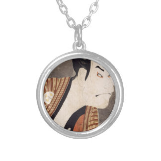 Toshusai_Sharaku Silver Plated Necklace