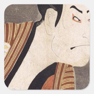 Toshusai_Sharaku Square Sticker