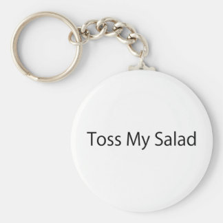 Toss My Salad Basic Round Button Key Ring