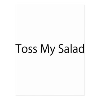 Toss My Salad Postcard